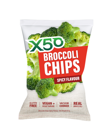 Spicy X50 Broccoli Chips