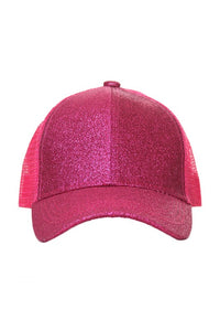 Kids Hot Pink Pony Hat