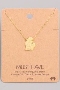 Solid Michigan Charm Necklace