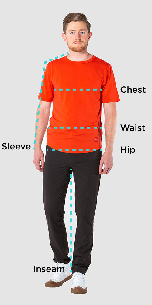Men's Sizing Chart – Topo Designs
