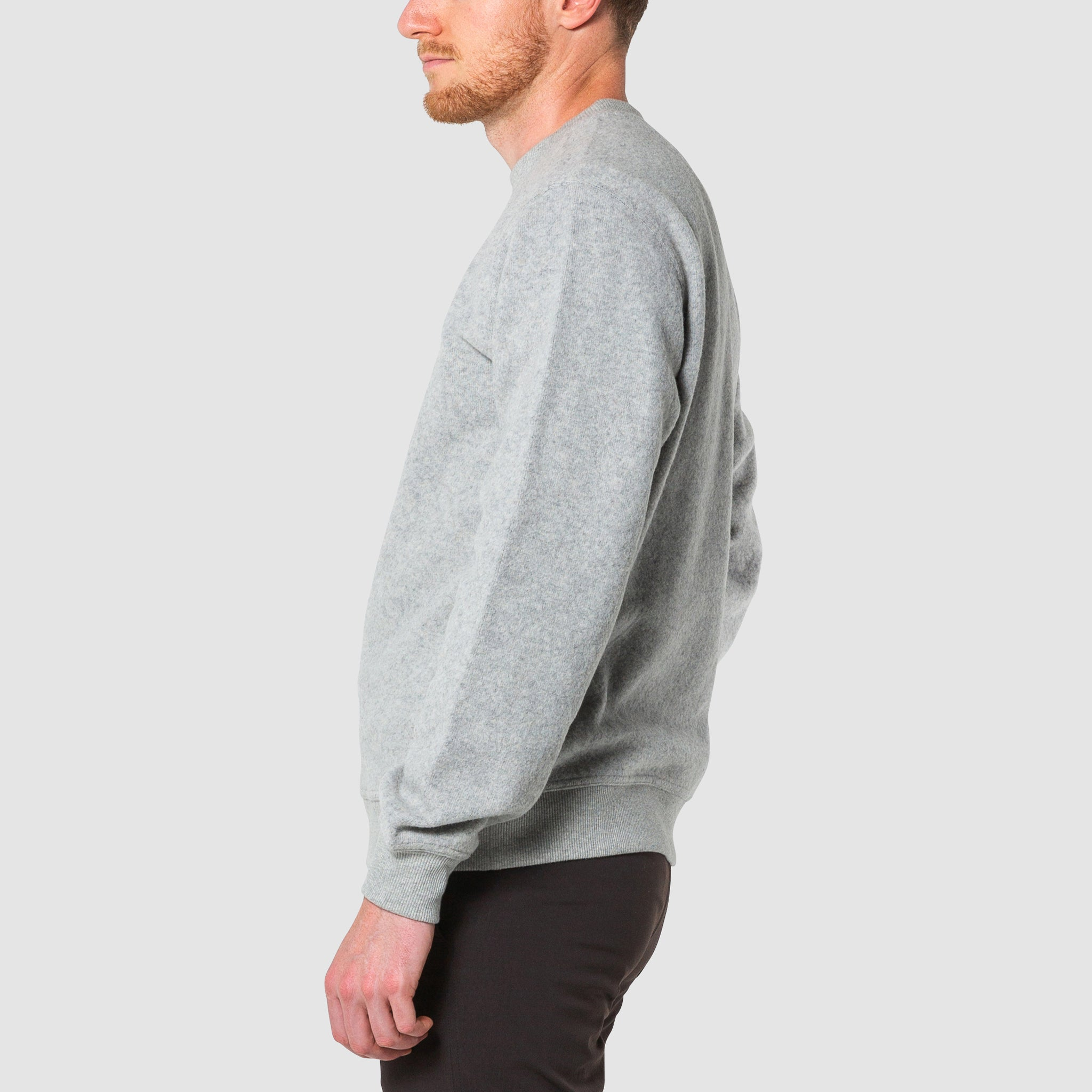 Mens Crew Neck Wool Pull Over Travel Sweater Topo Designs