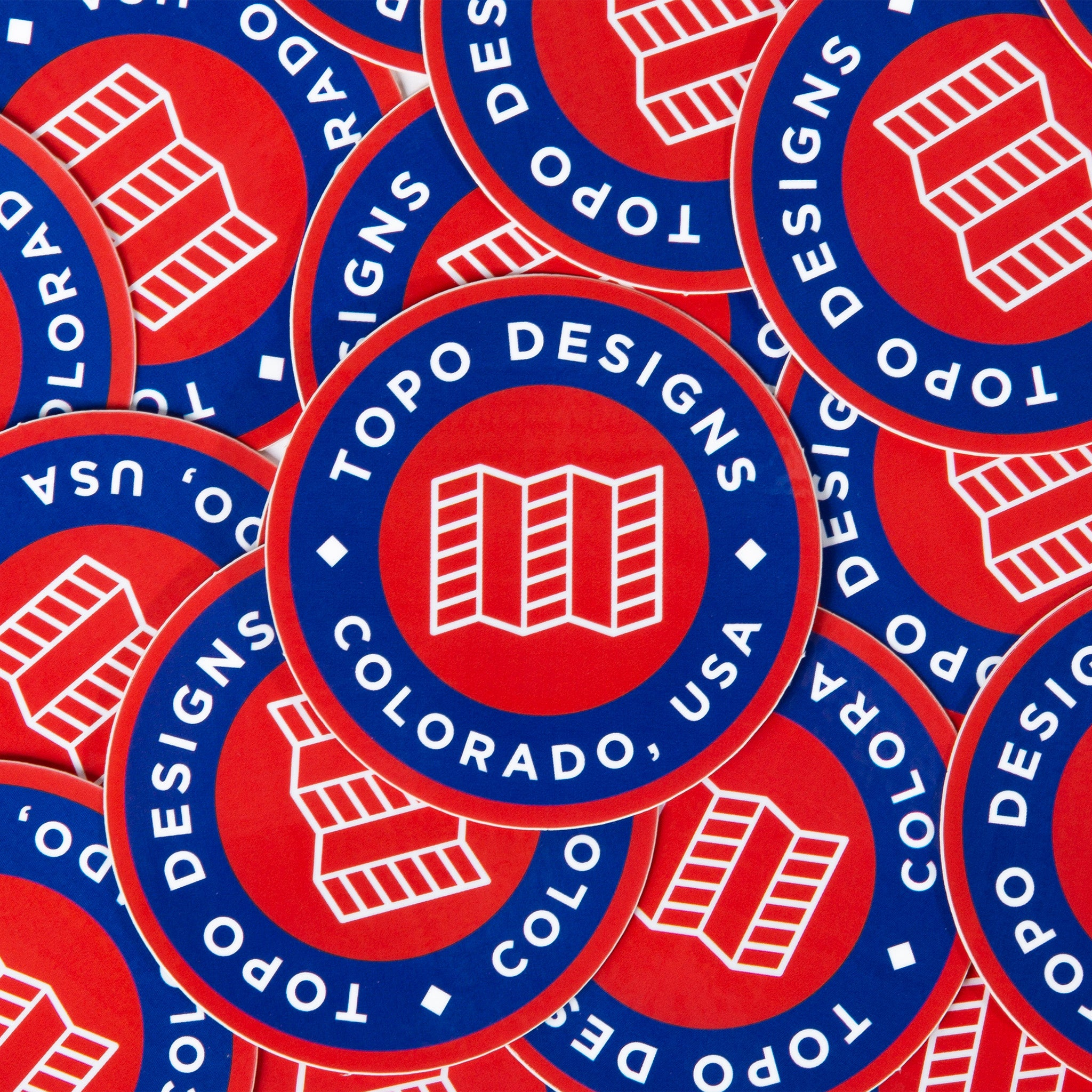 Topo designs sticker pack