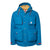 Product shot of men's mountain jacket in blue