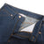 Front detail shot of Women's 5 Pocket Pants in Blue Denim showing zipper fly and inside of waist