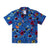 Front product shot of Topo Designs Women's Tour Shirt - Floral in blue floral print.