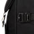 Detail Shot of the Topo Designs Rover Pack Premium in Premium Black showing the hardware on the side of the bag.