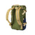 3/4 Back Product Shot of the Topo Designs Rover Pack Classic in Olive/Navy showing backpack straps
