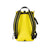 Back product shot of the Topo Designs Rover Pack Mini in Yellow showing backpack straps