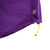 Detail shot of Topo Designs Women's Sport Skirt in Purple showing cinch cord adjustment at bottom hem.
