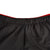 Front detail shot of Topo Designs Trail Shorts - Sport - Men's in Black showing waistband up close.