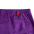 Detail shot of Topo Designs Women's Sport Skirt in Purple showing back key clip attachment point.