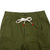 Detail shot of Topo Designs Men's Dirt Pants in Olive green showing drawstring waistband.