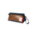 Topo Designs Leather Dopp Kit in navy blue / brown leather. Made in USA.