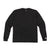 Front product shot of Topo Designs Men's Long Sleeve Pocket Tee in Black.