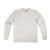 Front product shot of Topo Designs Men's Long Sleeve Pocket Tee in Natural white.