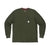 Front product shot of the Waffle Tee Long Sleeve in Olive