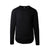 Front product shot of Topo Designs Men's Wool Tee Long Sleeve in Black