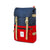 3/4 Front Product Shot of the Topo Designs Rover Pack Classic in Navy/Red