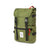 3/4 Front Product Shot of the Topo Designs Rover Pack Classic in Olive green