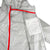 Detail shot of inside showing hidden chest pocket of Topo Designs Ultralight Jacket - Lightweight Packable Travel Jacket for Women in Silver
