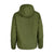 Back of Topo Designs women's puffer hoodie in olive green.