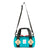 Front detail shot of Topo Designs Mini Classic Duffel Bag in Turquoise blue showing shoulder strap.