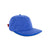 3/4 front view of Topo Designs Fleece Cap in blue