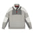 Front product shot of Topo Designs Men's Global 1/4 Sweater in Gray.