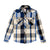 Topo Designs Women's Mountain Shirt Heavyweight in Natural/Black Plaid.