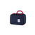 3/4 front product shot of Topo Designs Pack Bag 10L Cube in Navy blue