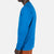 Close-up side model shot of the Men's Long Sleeve Climber Tee in blue