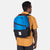 Close-up back model shot of Topo Designs Standard Pack in Blue/Black.