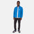 Front model shot of Topo Designs Men's Wind Jacket - Sport in Blue.
