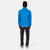 Back model shot of Topo Designs Men's Wind Jacket - Sport in Blue.