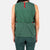 Close-up back model shot of Topo Designs Women's Tech Tank in Forest green.