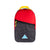 Front view of Topo Designs x Coors Light Light Pack backpack in red/black ripstop