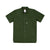 Front product shot of Topo Designs Men's Route Shirt in Olive green.