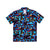 Front product shot of Topo Designs Men's Tour Shirt in Geo Print Navy blue