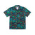 Front product shot of Topo Designs Men's Tour Shirt in Geo Print green