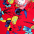 Detail shot of Topo Designs Men's Tour Shirt - Floral in red floral print showing buttons.