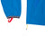 Front detail shot of Topo Designs Men's Wind Anorak - Sport in Blue showing cuff and hidden thumb loops
