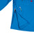 Front detail shot of Topo Designs Men's Wind Anorak - Sport in Blue showing side seam zipper opening.