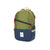 3/4 front product shot of Topo Designs Standard Pack in Olive/Navy