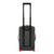 Back detail shot of Topo Designs Travel Bag Roller 35L Premium carry-on suitcase in Premium Black showing telescoping handle.