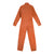Back product shot of the Topo Designs Women's Coverall jumpsuit in Brick orange