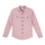 Front product shot of Topo Designs Women's Mountain Shirt - Lightweight in Haze pink.