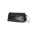 Topo Designs Made in USA Dopp Kit Heritage Canvas toiletry travel bag in Black with black leather.