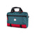 3/4 front product shot of Topo Designs x Alternative Commuter Briefcase in red/teal