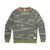Front product shot of Topo Designs x Alternative Champ Eco-Teddy Sweatshirt - Men's in camo.