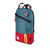 3/4 front product shot of Topo Designs x Alternative Trip Pack in red/teal